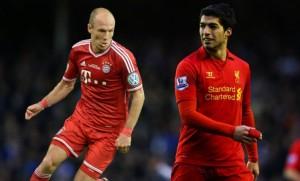 Arjen Robben Y Luis Súarez